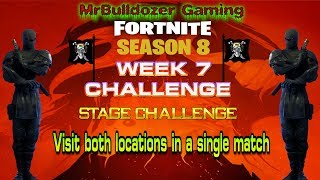 Fortnite Season 8 WK 7 STAGE CHALLENGE Visit BOTH LOCATIONS in a single match