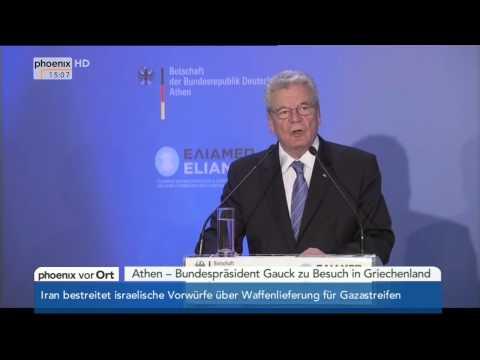 Griechenland: Rede von Bundespräsident Gauck am 07.03.2014