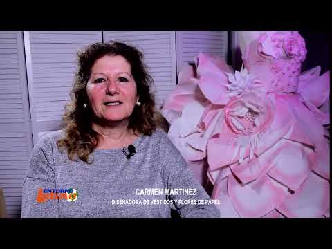 ENTORNO LATINO NY SALUDO  CARMEN MARTINEZ DISEÑADORA DE TRAJES DE PAPEL