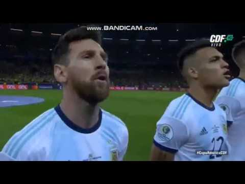 Brazilian Soccer Fans Booing The Argentine National Anthem!