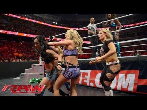 Naomi vs. AJ Lee - Lumber Jill Match: Raw, March 31, 2014