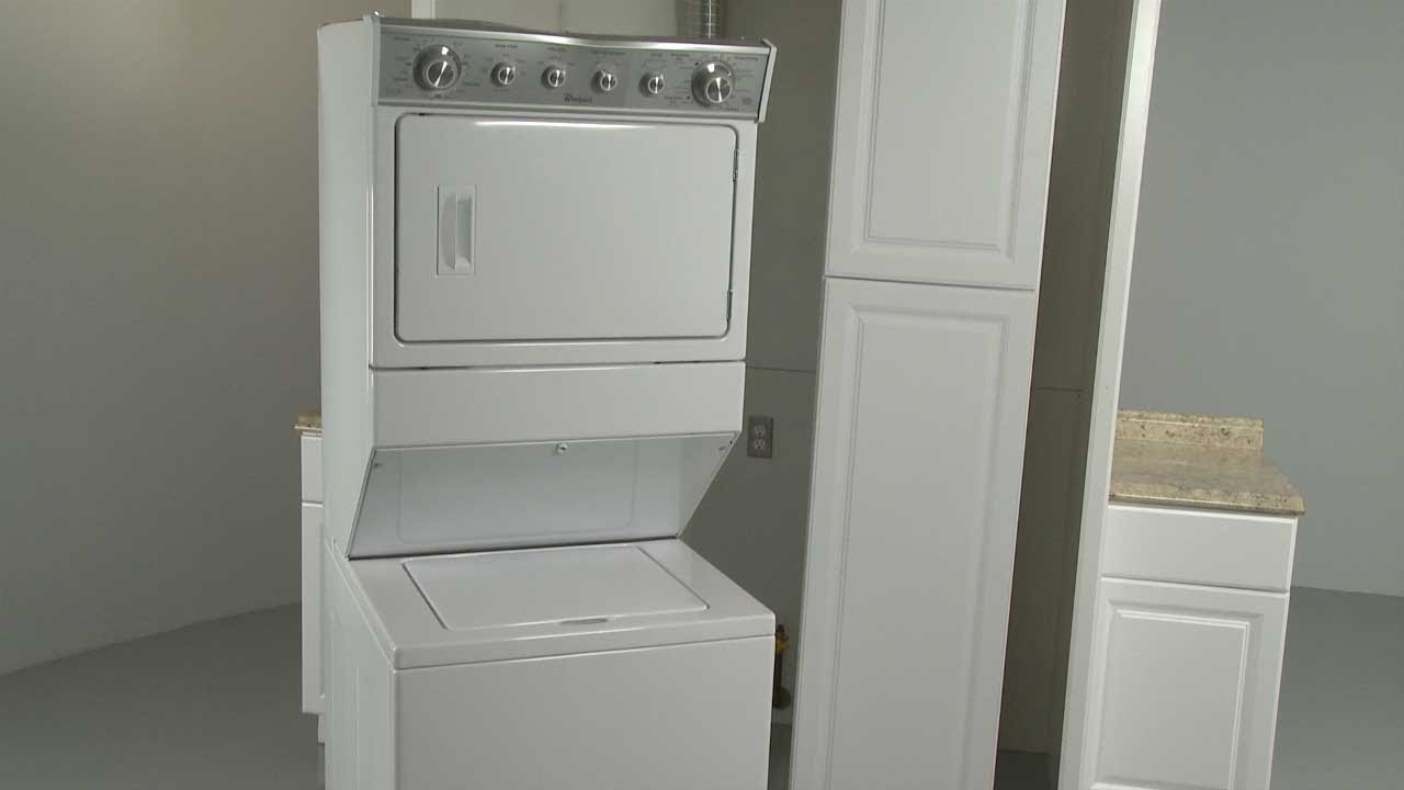 Whirlpool Combination WasherDryer Installation Model WET4027EW0  YouTube