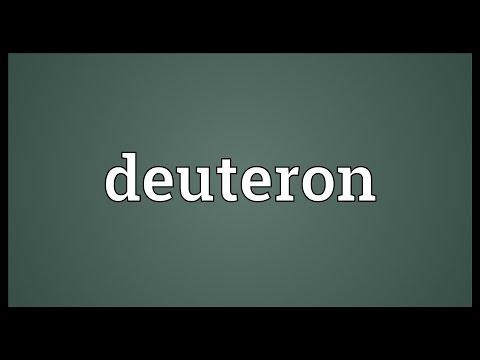 Header of deuteron