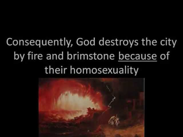City destroyed god because homosexuality in christianity