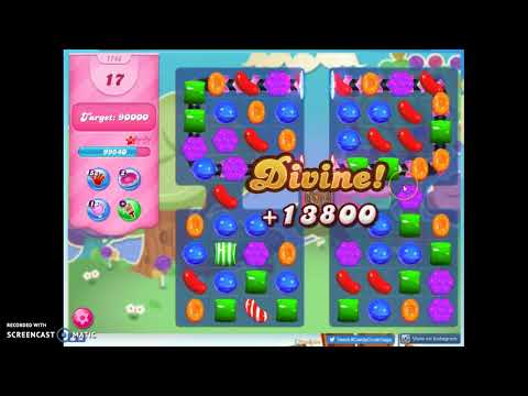 Candy Crush Level 1748 Audio Talkthrough, 2 Stars 0 Boosters