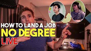 🔴 HOW TO LAND A JOB NO DEGREE - LIVE | @joshuafluke on socials