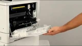 HP Color LaserJet Enterprise M552, M553, M577 Remoço e substituiço do Fusor