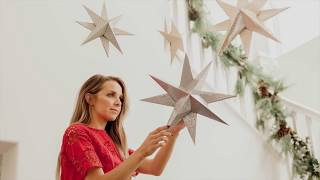 How to make Paper hanging stars