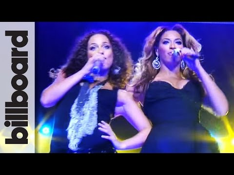 Beyoncé & Alicia Keys Put It In A Love Song Front Row,  at Madison Square Garden  Billboard