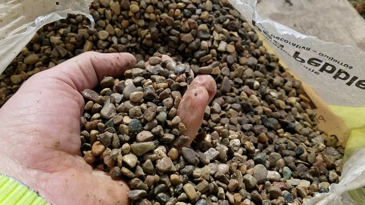 Do Not Use Pea Gravel Pebble Stone When Building A French Drain