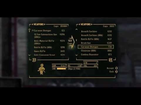 Fallout: New Vegas - Infinite Caps/Ammo/Condition Glitch