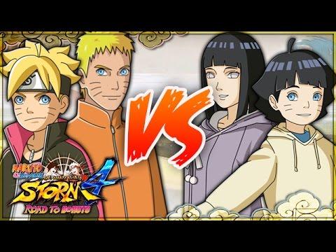 NARUTO: Ultimate Ninja STORM 4 ROAD TO BORUTO | Hokage Naruto & Boruto VS  Adult Hinata & Himawari