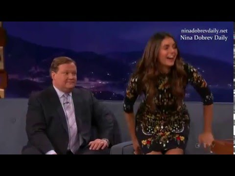 Nina Dobrev on Late Night with Conan - YouTube