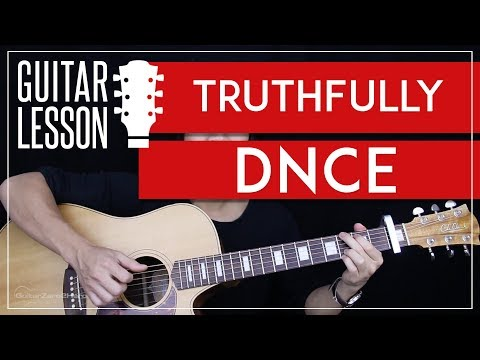 Truthfully Guitar Tutorial - DNCE Guitar Lesson  🎸 |Tabs + Guitar Cover|