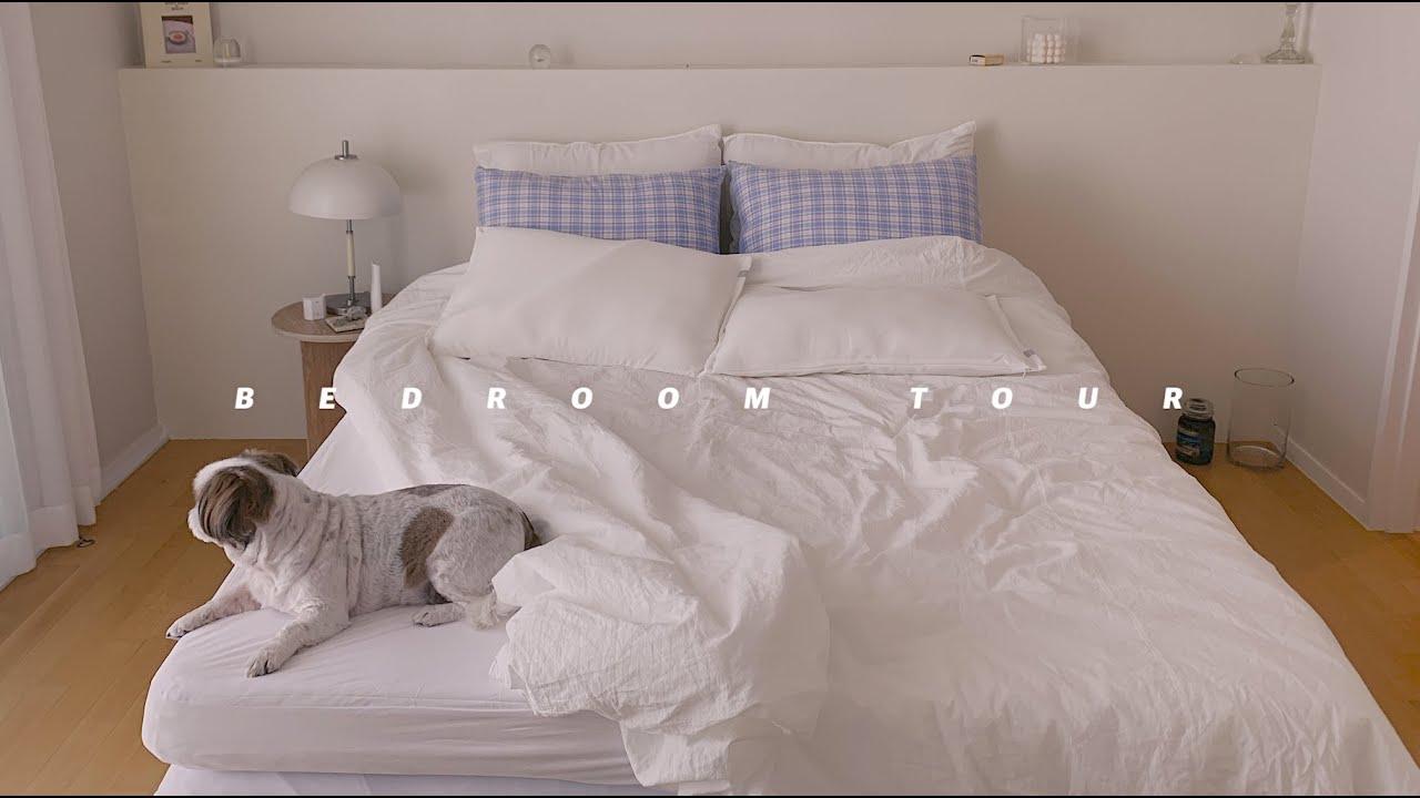 집꾸미기 짧은기록 #07 눕자마자 잠오는 침실 인테리어 (슬로우 토퍼, 여름침구, 침대협탁, 집순이 잠옷소개)