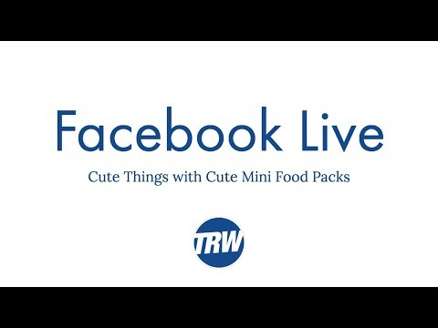 Facebook Live: Cute Things with Cute Mini Food Packs and Release of Cute Mini Food Pack 3