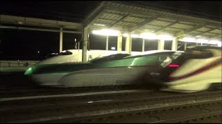 【HD 5.1ch】 Japanese bullet train  東北新幹線 迫力の高速通過など... 那須塩原駅ホームから撮影(24))