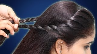 two side juda braid hairstyle for girls || hair style girl || simple hairstyle #hairstyles