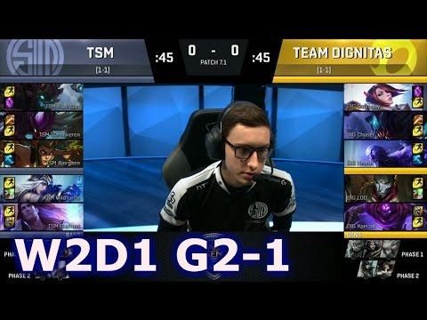 TSM vs Dignitas Game 1 | S7 NA LCS Spring 2017 Week 2 Day 1 | DIG vs TSM G1 W2D1