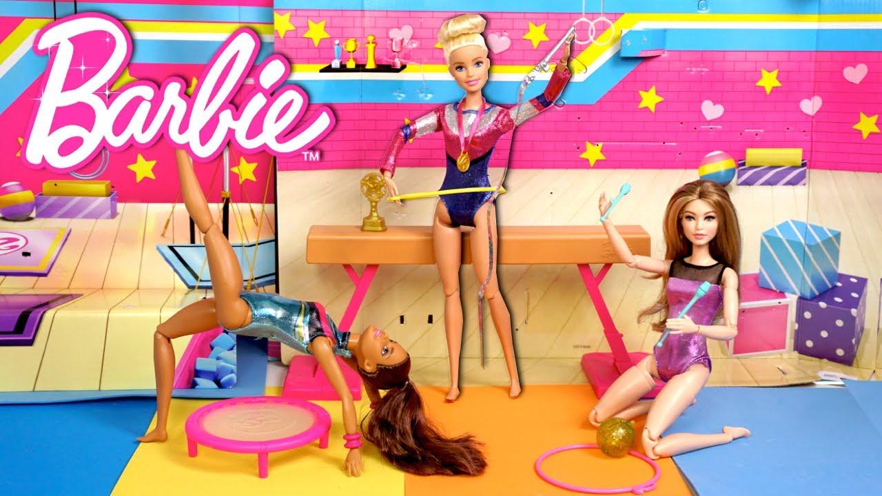 Download Barbie Dolls Gymnastics Competition Routine - Skipper Saves the Day!