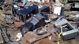 78 игровых устройств уничтожили на металлобазе. Липецк LIVE