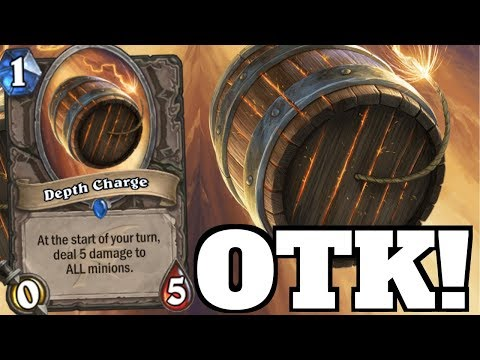 DEPTH CHARGE OTK!?! Yeah! That Barrel Card! [Hearthstone Game Of The Day]