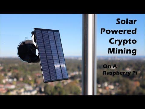 Solar Powered Crypto Miner Using A Raspberry Pi