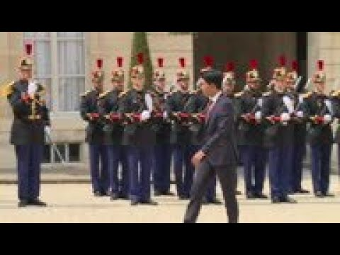 Macron meets Madagascar President Rajoelina