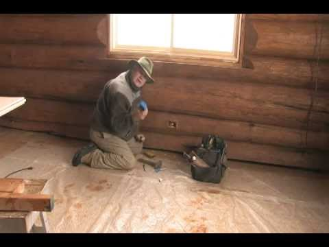 Log Home Skills Installing Electric Boxes Youtube