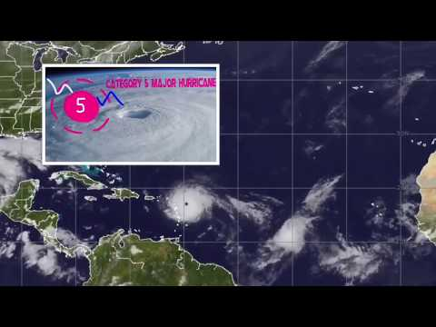The Track of Hurricane Irma (2017)