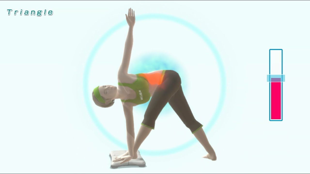 Triangle Pose - Yoga Exercise - Wii Fit U - YouTube