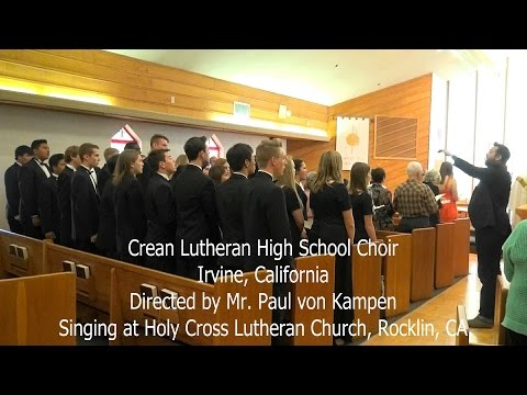 2016-04-24 - Choir from Crean Lutheran High School Sings
