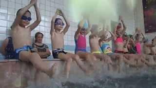 Начало тренировки по обучению детей плаванию