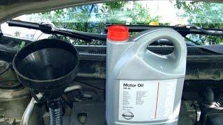 Замена масла в двигателе  Nissan X-Trail.\Ленивый автовладелец.
