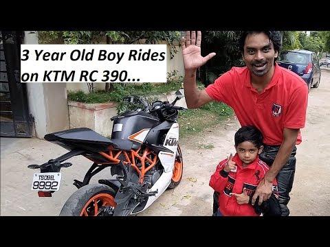 3 Year Old KID Rides on KTM RC 390. My SON, SID.