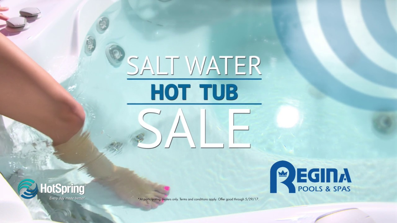 regina pools u0026 spas salt water hot tub sale may 19 29 - Saltwater Hot Tub