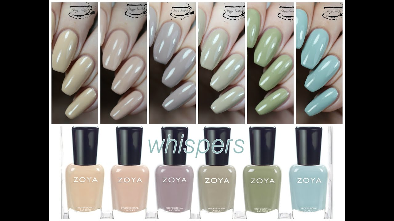 Swatches | Zoya Whispers Transitional 2016 Collection Review - YouTube