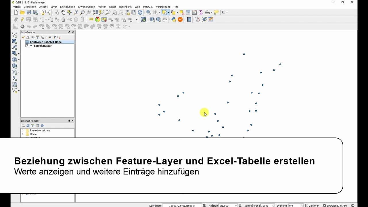 QGIS Tutorial | Beziehung zwischen einem Feature-Layer und einer ...