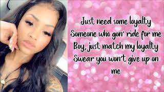 Ann Marie - Ride for Me ft. Yung Bleu (Lyrics)