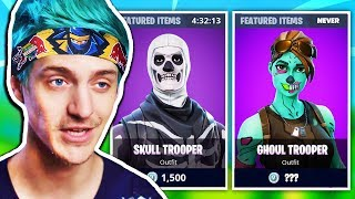 NINJA EXPLAINS WHY GHOUL TROOPER IS THE RAREST SKIN EVER NOW | Fortnite Daily Funny Moments Ep.242