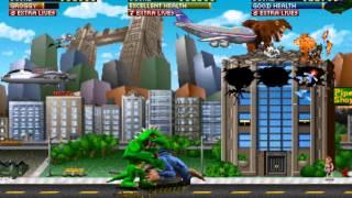 Rampage World Tour arcade 3 player Netplay 60fps