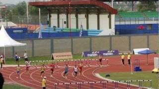 Zaki Sapari, 400m hurdles men final (SHORT VERSION) - SEA Games 2011