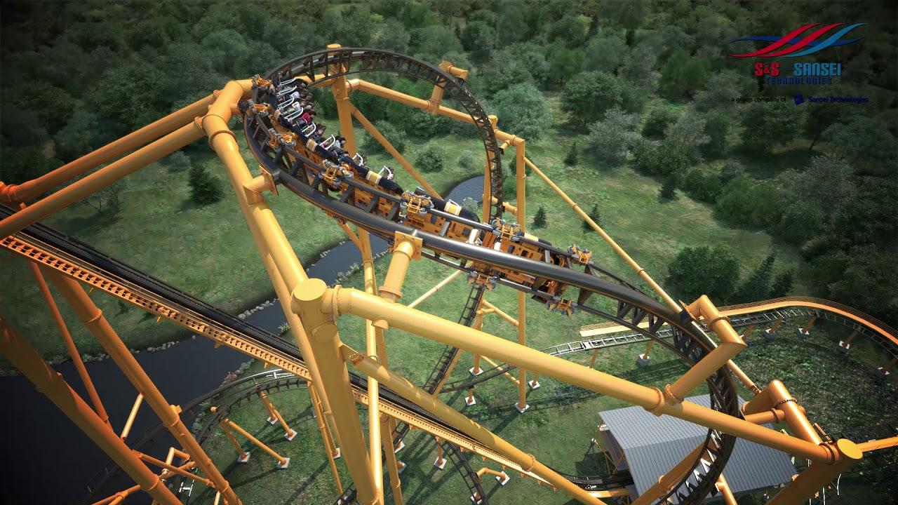 Kennywood Steel Curtain Roller Coaster NEW Birdseye View