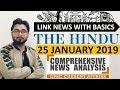 25 JANUARY 2019 The HINDU NEWSPAPER ANALYSIS TODAY in Hindi (हिंदी में) - News Current Affairs  IQ