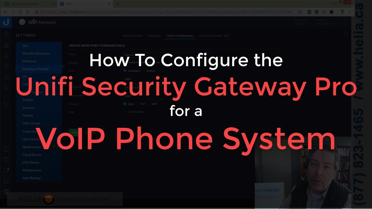 How To Configure the Unifi Security Gateway Pro for a VoIP Phone System