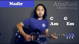 Chord Gampang (Nadir - Fiersa Besari) by Arya Nara (Tutorial Gitar) Untuk Pemula