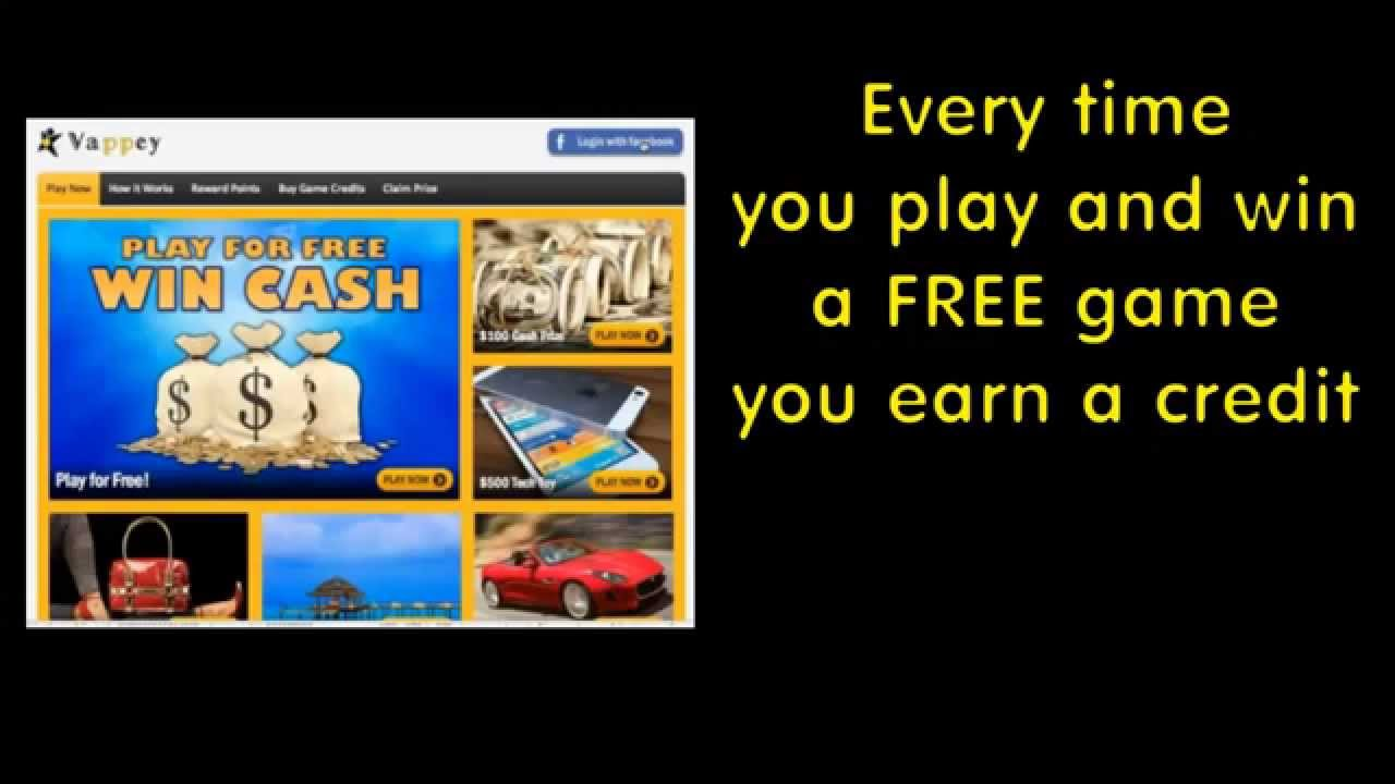 Win cash prizes free games