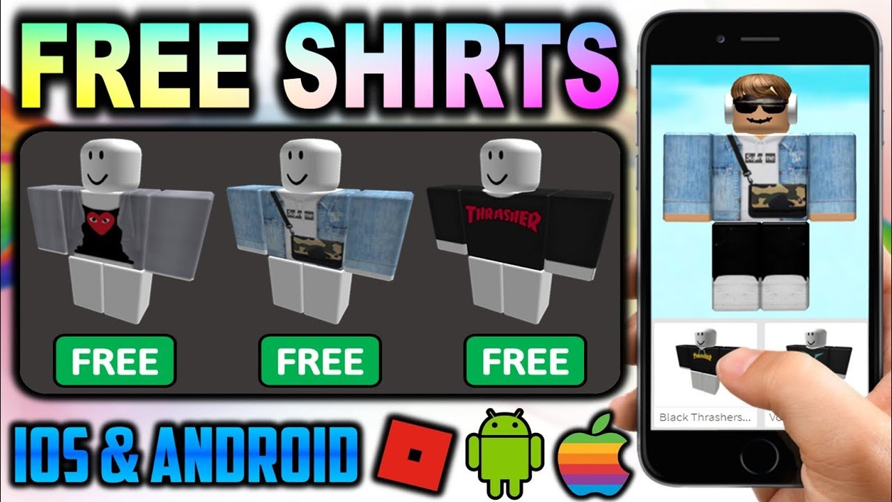 How To Get Free Shirts On Iphone Android No Bc Or Robux Youtube