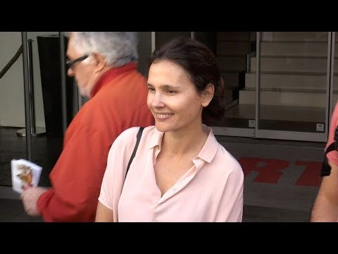 EXCLUSIVE : Virginie Ledoyen and Thierry Neuvic at RTL radio station in Paris