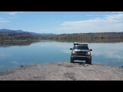 """Boxcar Cove exploration at low water level Lake Mead NRA Suburban 37"""" tires Las Vegas off road"""